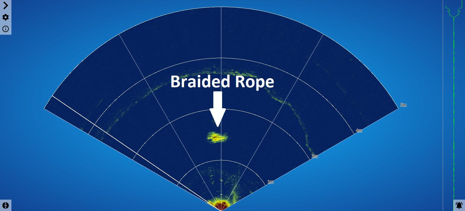 la même corde vue par le sonar