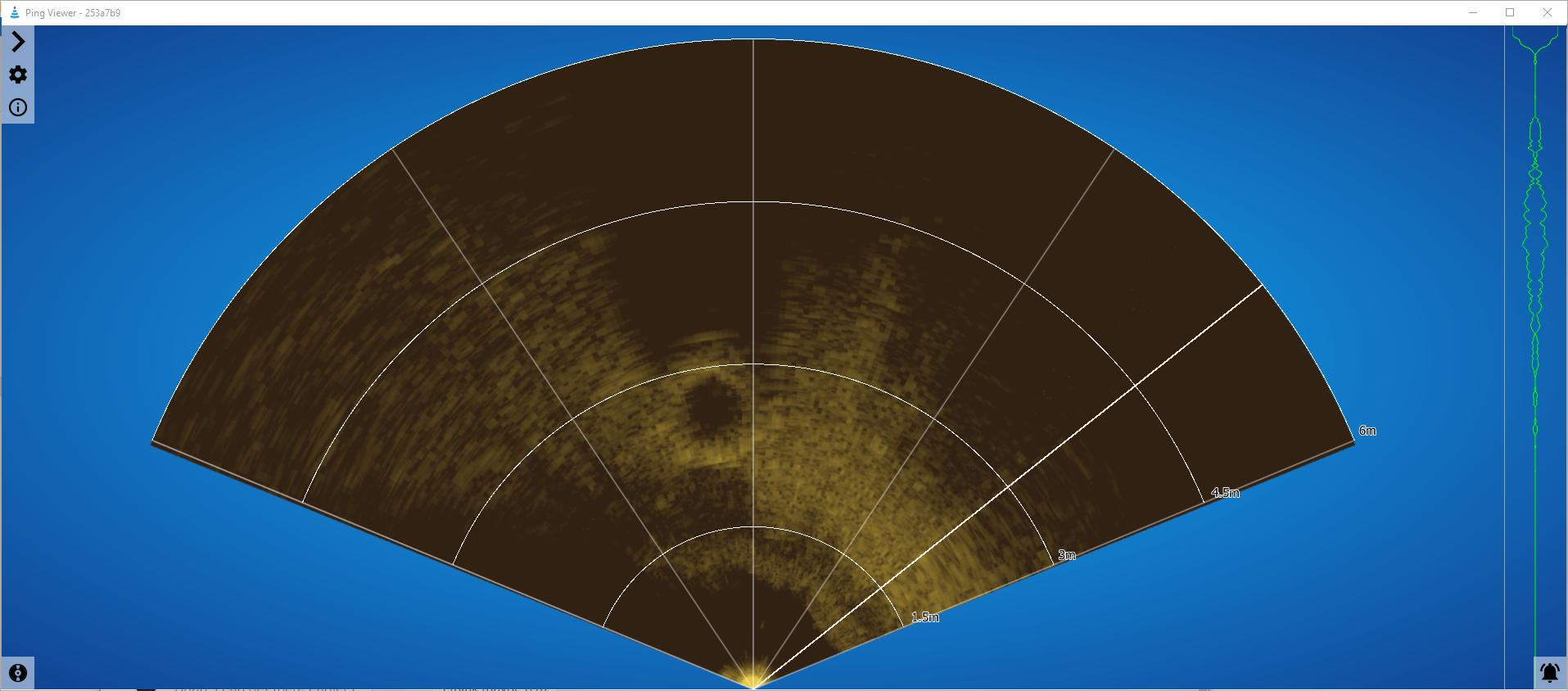 Image d'un pneu sur l'application PingViewer